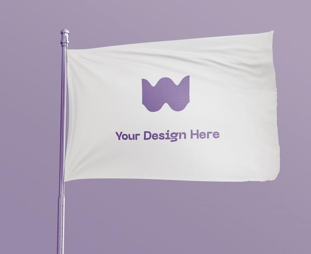 Flag mockup Psd Gratuite