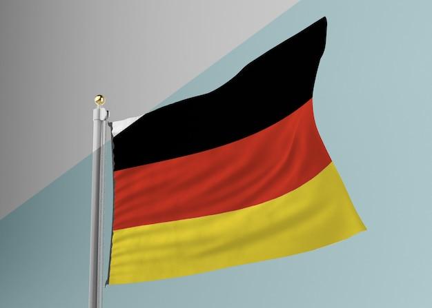 독일 국기와 깃발 극 무료 PSD 파일