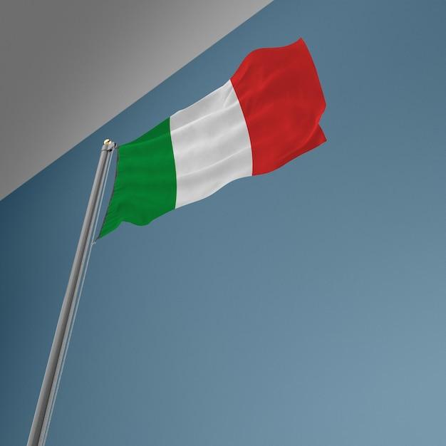 이탈리아 국기와 깃발 극 무료 PSD 파일
