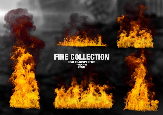 Flame collection Premium Psd