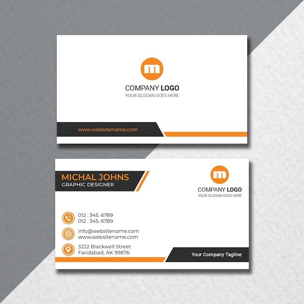 Flat business card design Premium Psd
