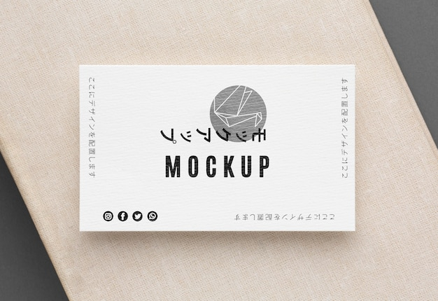 Flat lay business card mock-up composition Free Psd