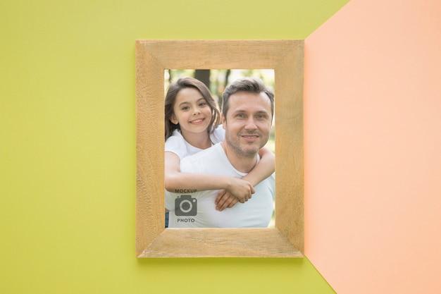 Плоская планировка рамки для фотографий Бесплатные Psd