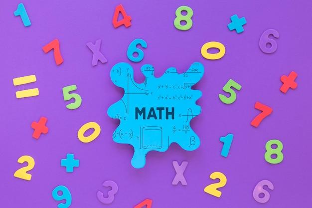 숫자와 수학 얼룩 모형의 평평하다 무료 PSD 파일