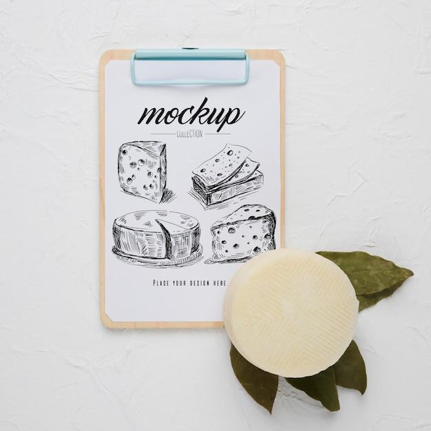 Плоский блокнот с сыром Бесплатные Psd