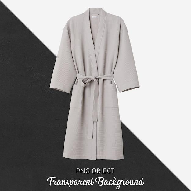 Плоский макет бежевого халата унисекс Premium Psd