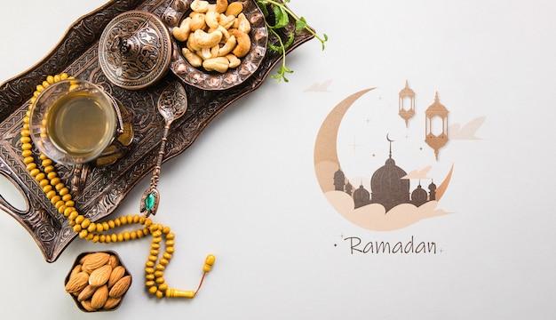 Flat Lay Ramadan Copyspace