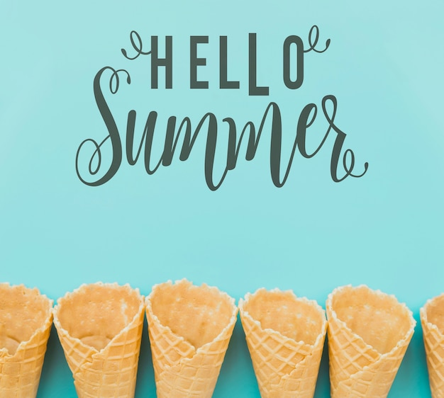 Flat lay summer background with copyspace Free Psd