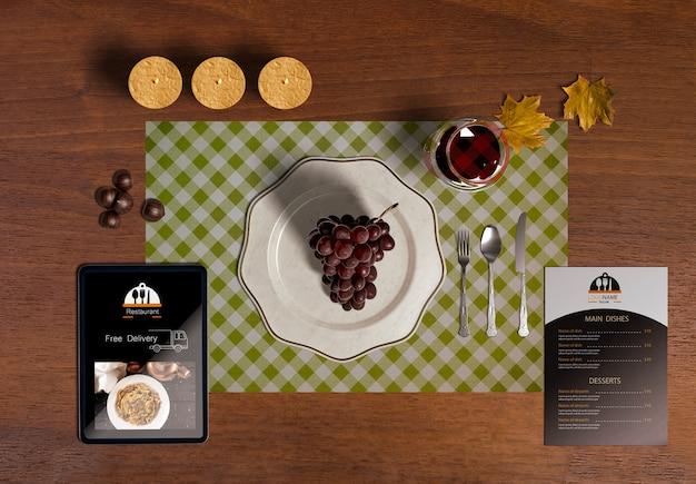 Flat lay of thanksgiving scene creator concept Free Psd
