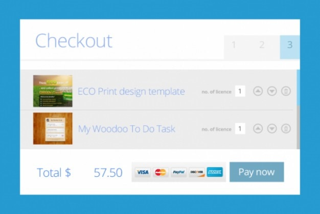 Flat metro checkout design PSD file | Free Download