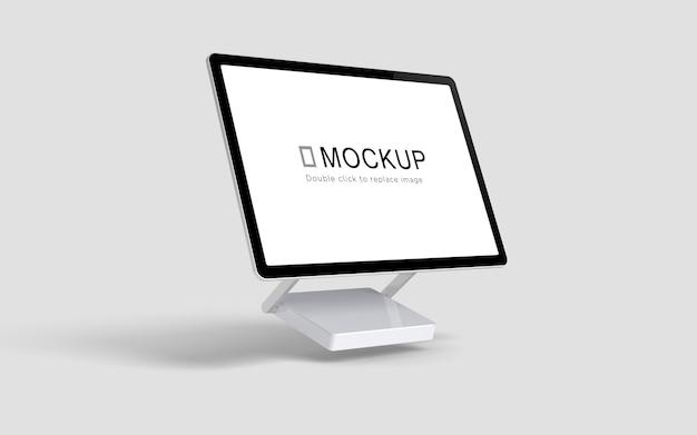 フローティングデスクトップ画面のモックアップ Premium Psd
