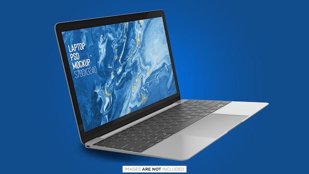 フローティングmacbook pro psdモックアップ Premium Psd