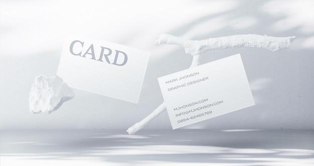 Создатель макета плавающей минимальной визитки Бесплатные Psd
