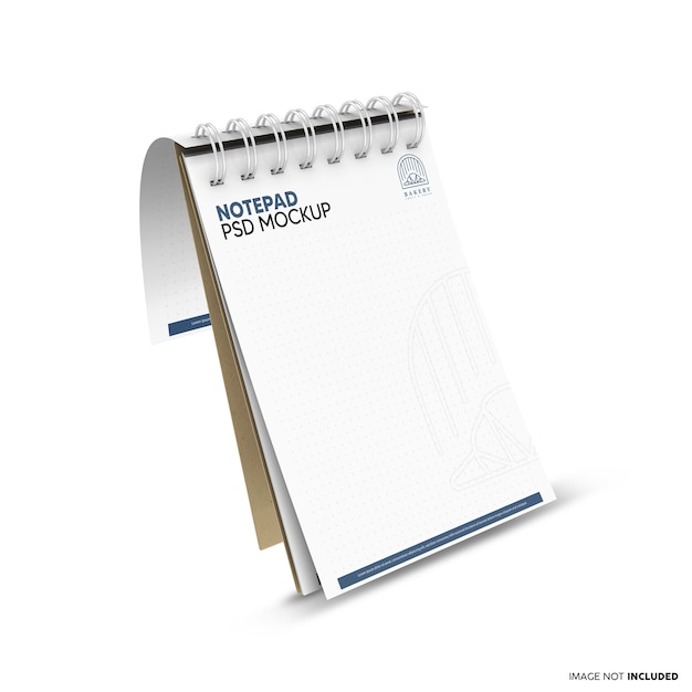 Floating notepad mockup