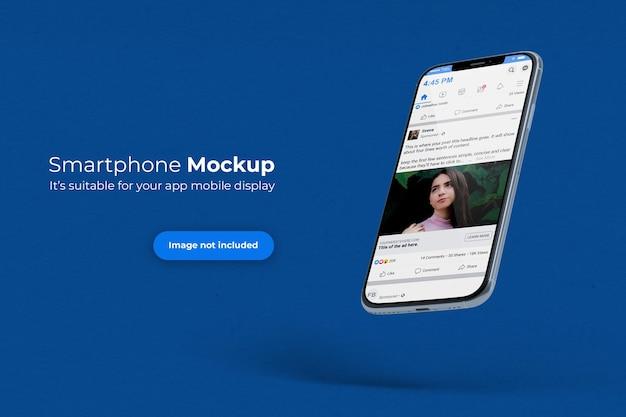 Floating smartphone mockup Premium Psd