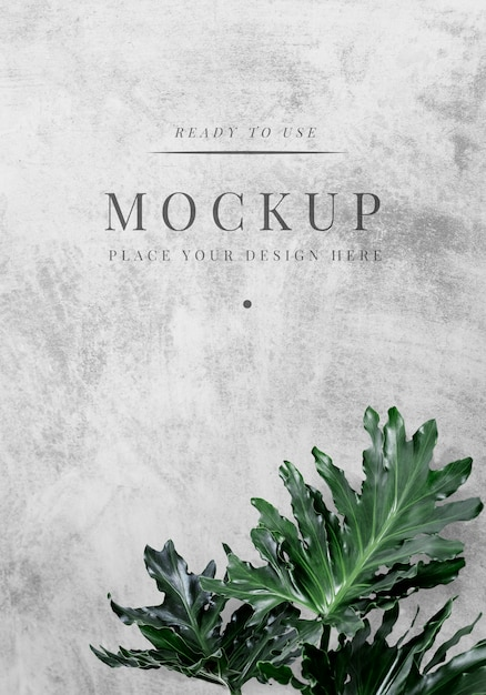 Floral cover mockup Free Psd