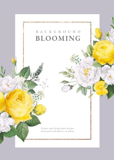 Floral design wedding invitation Premium Psd