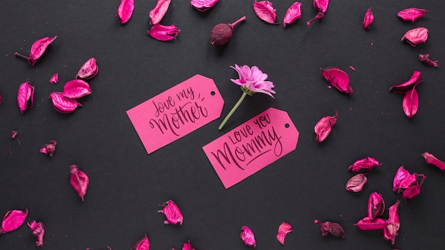 Floral mothers day mockup Free Psd