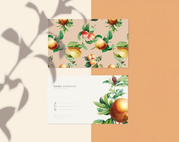 Floral name card design Free Psd