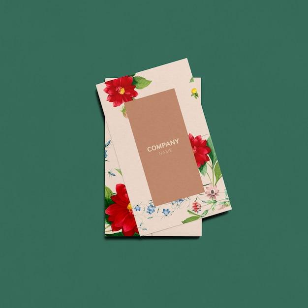 花の名刺デザイン 無料 Psd