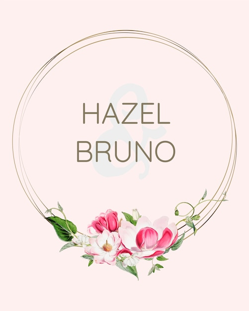 Цветочный свадебный пригласительный макет Бесплатные Psd