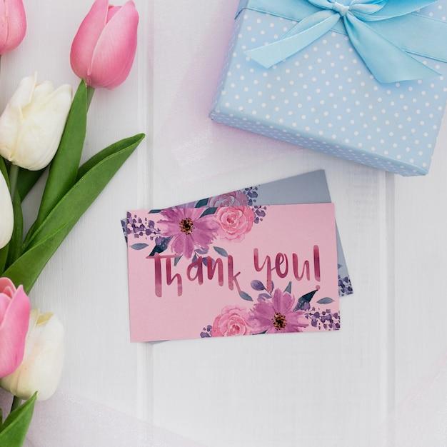 Цветочные свадебные приглашения макет акварель Бесплатные Psd