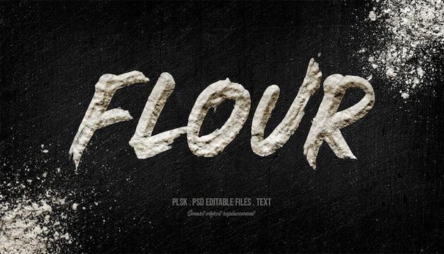 Flour 3d text style effect Premium Psd