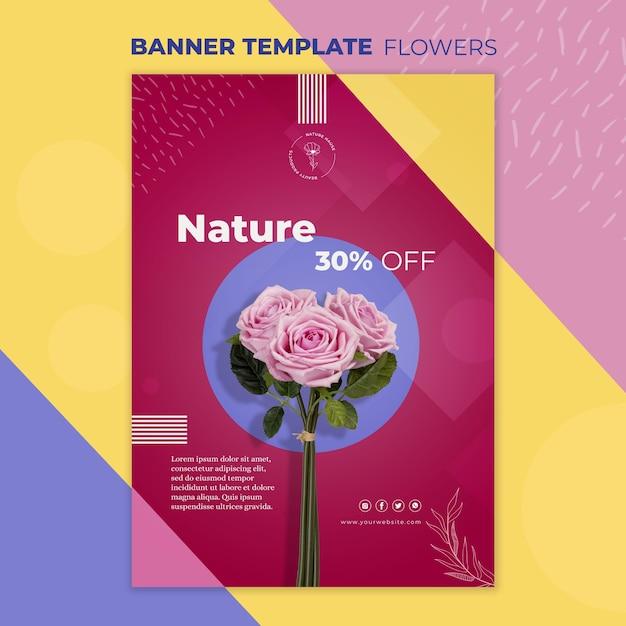 花のコンセプトバナーテンプレート 無料 Psd
