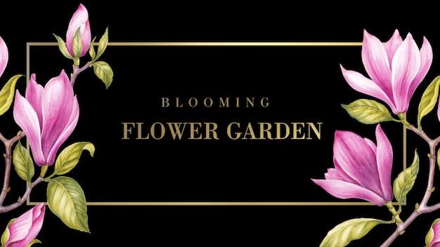 Flower frame Premium Psd