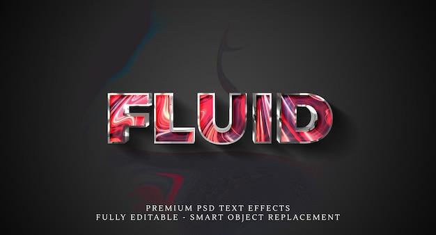 Fluid text style effect psd. psd text effects Premium Psd