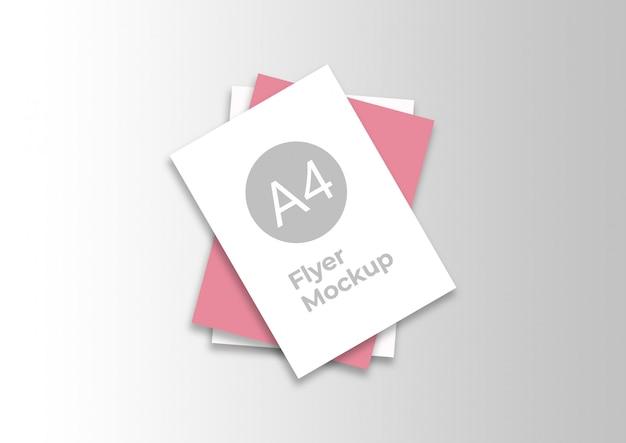 Элегантный макет flyer a4 Premium Psd