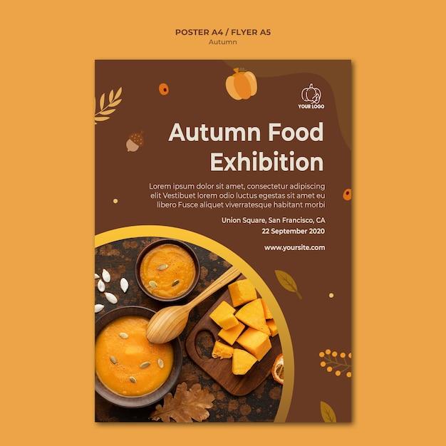 Flyer autumn fest template Free Psd