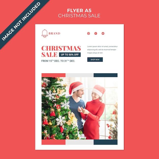 크리스마스 판매 할인 전단지 표지 템플릿 프리미엄 PSD 파일