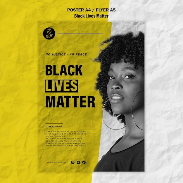 흑인의 삶을위한 전단지 무료 PSD 파일