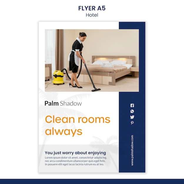 Flyer for hotel reservation Free Psd