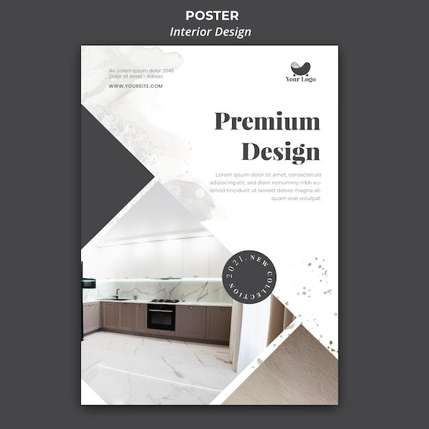 플라이어 인테리어 디자인 서식 파일 무료 PSD 파일