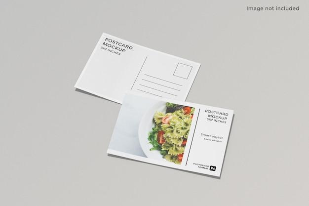 고립 된 전단지 엽서 이랑 디자인 프리미엄 PSD 파일