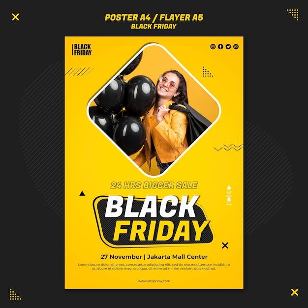 Modello di volantino per la vendita del venerdì nero Psd Gratuite