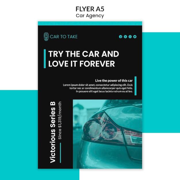 Flyer template car agency Free Psd