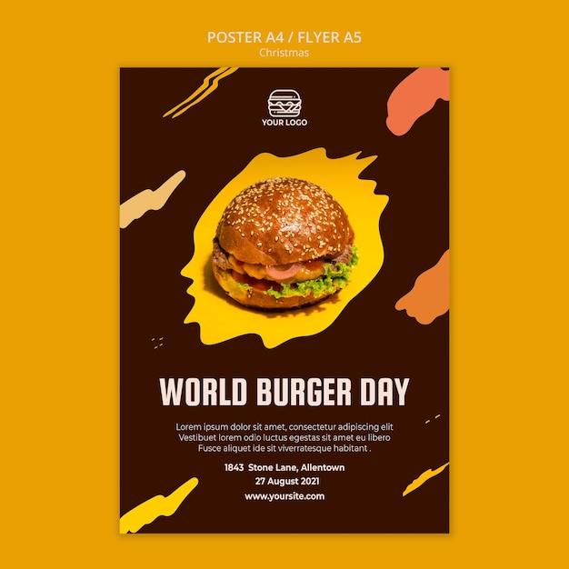ハンバーガーレストランのチラシテンプレート 無料 Psd