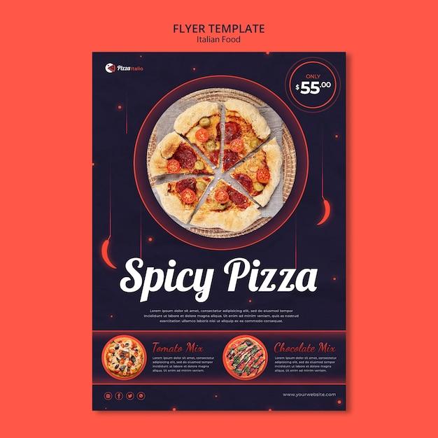 이탈리아 요리 레스토랑 전단지 템플릿 무료 PSD 파일
