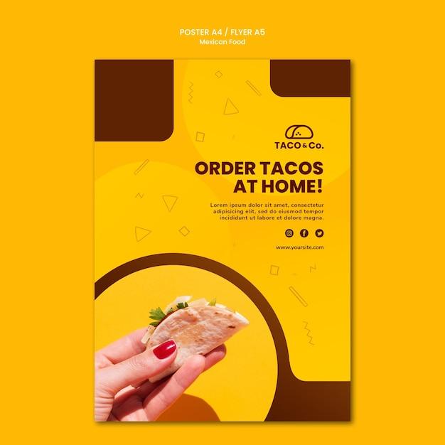 メキシコ料理レストランのチラシテンプレート 無料 Psd