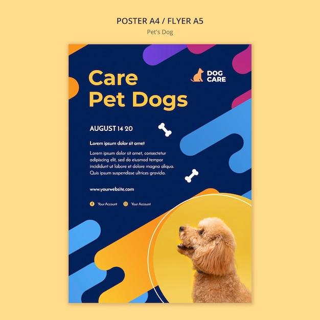 애완 동물 가게 사업을위한 전단지 템플릿 무료 PSD 파일