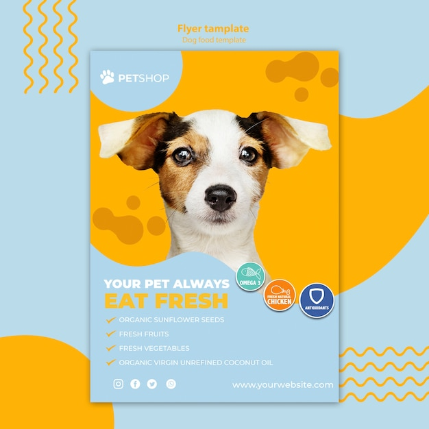 Flyer template for pet shop Free Psd