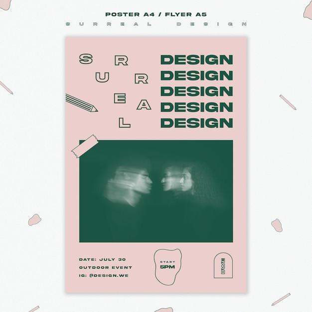 チラシテンプレートシュールなデザイン 無料 Psd