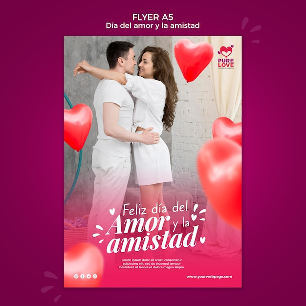 Flyer template for valentines day celebration Free Psd
