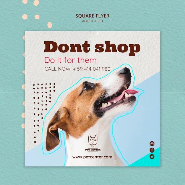 Шаблон флаера с принятием домашних животных Бесплатные Psd