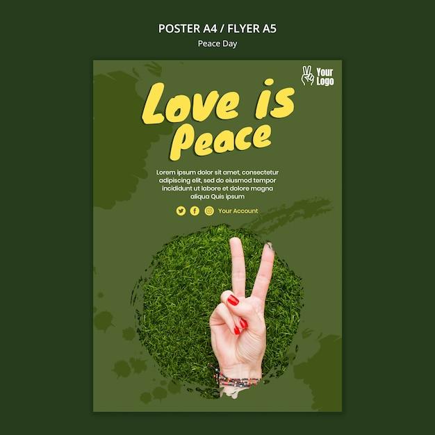 Modello di volantino per la giornata mondiale della pace Psd Gratuite