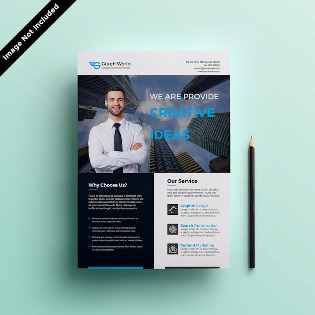 Flyer template Premium Psd