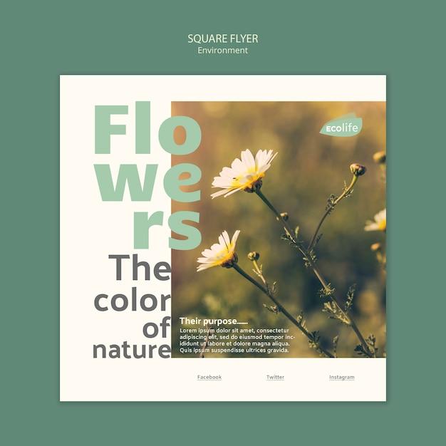 Флаер с концепцией шаблона окружающей среды Бесплатные Psd